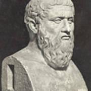 Bust Of Grecian Philosopher Plato Art Print