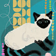 Buster The Shelter Cat Art Print