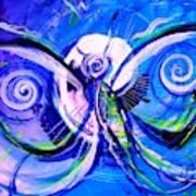 Butterfly Blue Violet Art Print
