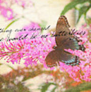 Butterfly Kisses Quote Art Print