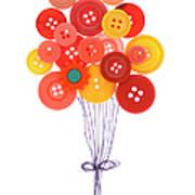 Buttons As Balloons Art Print