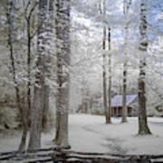 Cabin In The Smoky's II Art Print