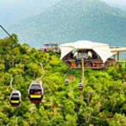 Cable Car On Langkawi Island, Malaysia Art Print