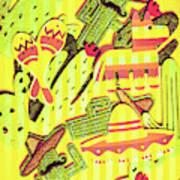 Cactus Carnival Art Print