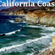 California Coast In Mendocino County Art Print