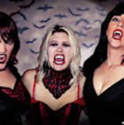 Call Of The Vampires Women Art Print
