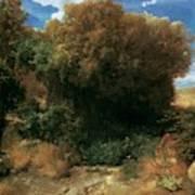 Campagna Landscape 1858 Art Print