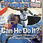 Can He Do It Kevin Garnett Challenges The Mighty Lakers Sports Illustrated Cover Art Print