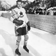 Canadian Hockey Captain With Olympic Art Print