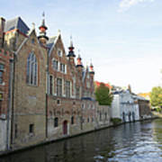 Canal In The Old Town Of Brugge Art Print
