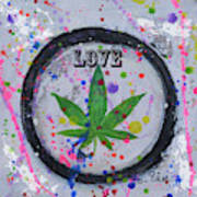 Cannabis With Love Art Print