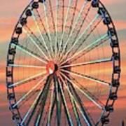 Capital Wheel Shining At Sunset  Art Print