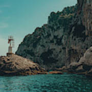 Capri Lighthouse Art Print