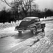 Car In The Snow Art Print