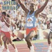 Carl Lewis, 1984 Us Olympic Track & Field Trials Sports Illustrated Cover Art Print