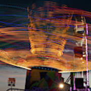 Carnival Rides Motion Blur Art Print