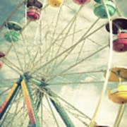 Carolina Beach Ferris Wheel Art Print