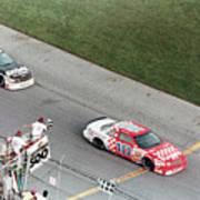 Cars At Finish Of Daytona 500 Art Print