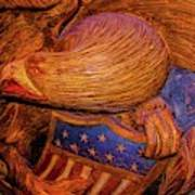 Carved Wood - Eagle Art Print