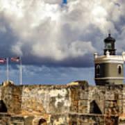 Castillo San Felipe Del Morro Lighthouse San Juan, Puerto Rico  Art Print