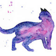 Cat In Space Art Print