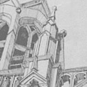 Cathedral Helena Montana Art Print