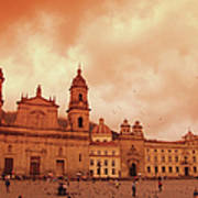 Cathedral In Bogota, Colombia, South Art Print
