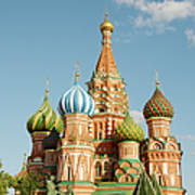 Cathedral Of Saint Basil The Blessed In Art Print