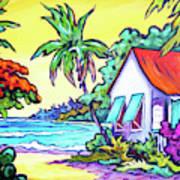 Cayman Cottage On The Bay Art Print