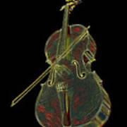Cello Music Instrument Professional Musician Designed Art Print