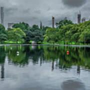Central Park Reflections Art Print