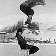 Chair Skate Leap Art Print