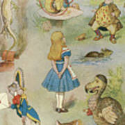 Characters From Alice In Wonderland  Art Print