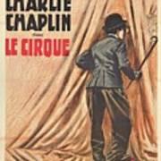 Charlie Chaplin Dans Le Cirque - Vintage Advertising Poster Art Print