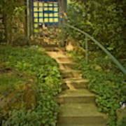 Chateau Montelena Garden Stairway Art Print