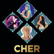 Cher - Blue Diamonds Art Print