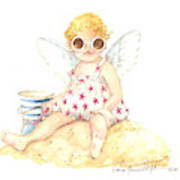 Cherub In The Sand Art Print