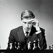 Chess Champion Robert J. Fisher Playing Art Print