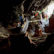 Chhungsi Cave From The Inside, Mustang Art Print