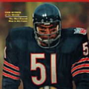 Chicago Bears Dick Butkus, 1970 Nfl Football Preview Issue Sports Illustrated Cover Art Print