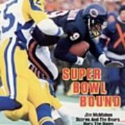 Chicago Bears Qb Jim Mcmahon, 1986 Nfc Championship Sports Illustrated Cover Art Print