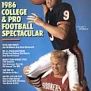 Chicago Bears Qb Jim Mcmahon And Oklahoma University Brian Sports Illustrated Cover Art Print