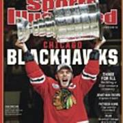 Chicago Blackhawks, 2015 Nhl Stanley Cup Champhions Sports Illustrated Cover Art Print
