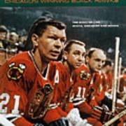 Chicago Blackhawks Stan Mikita, Kenny Wharram, And Doug Sports Illustrated Cover Art Print