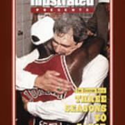 Chicago Bulls Coach Phil Jackson And Michael Jordan, 1993 Sports Illustrated Cover Art Print