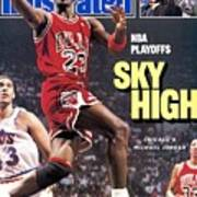 Chicago Bulls Michael Jordan, 1988 Nba Eastern Conference Sports Illustrated Cover Art Print