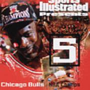 Chicago Bulls Michael Jordan, 1997 Nba Champions Sports Illustrated Cover Art Print