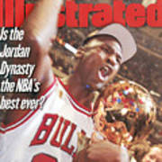 Chicago Bulls Michael Jordan, 1997 Nba Finals Sports Illustrated Cover Art Print