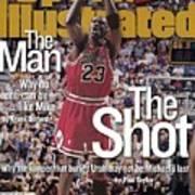 Chicago Bulls Michael Jordan, 1998 Nba Finals Sports Illustrated Cover Art Print