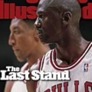 Chicago Bulls Michael Jordan And Scottie Pippen, 1998 Nba Sports Illustrated Cover Art Print